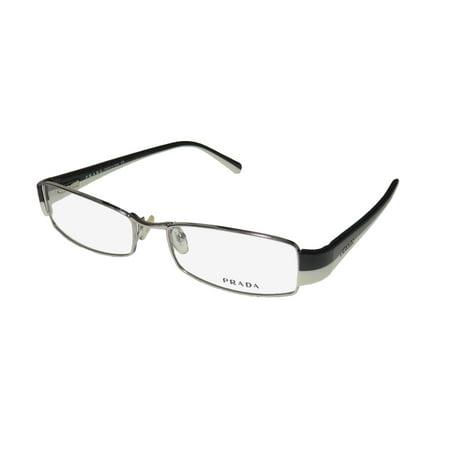 309ebcc3d02 New Prada Vpr53h Mens Womens Designer Full-Rim Silver   Black ...
