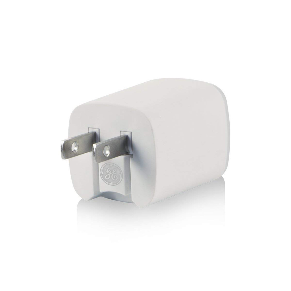 GE USB AC Charger 2 Port w// LED Nightlight Universal Charging Adapter 13277