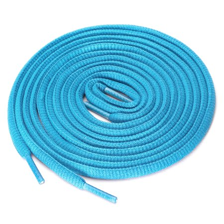 """2 Pairs Athletic Oval Half Round Shoelaces Sneakers Pink Blue 150 cm/59"""" - image 1 of 4"""