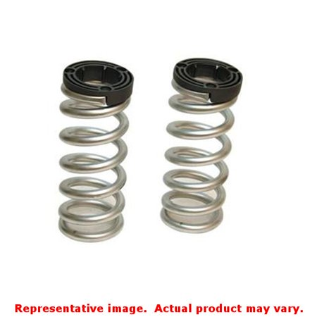 Belltech 23804 Lowering Springs, Powdercoated Silver, Front