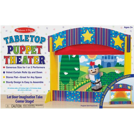 Melissa & Doug Tabletop Puppet Theater, Sturdy Wooden Construction