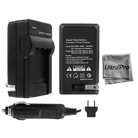 UltraPro Nikon 1 J1 Digital Camera Battery Charger (110/220v with Car & EU adapters) - UltraPro Replacement Charger for Nikon EN-EL20 (1 Digital Camera Battery Charger)