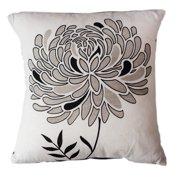 Sustainable Threads Lunar Dahlia Cotton Throw Pillow
