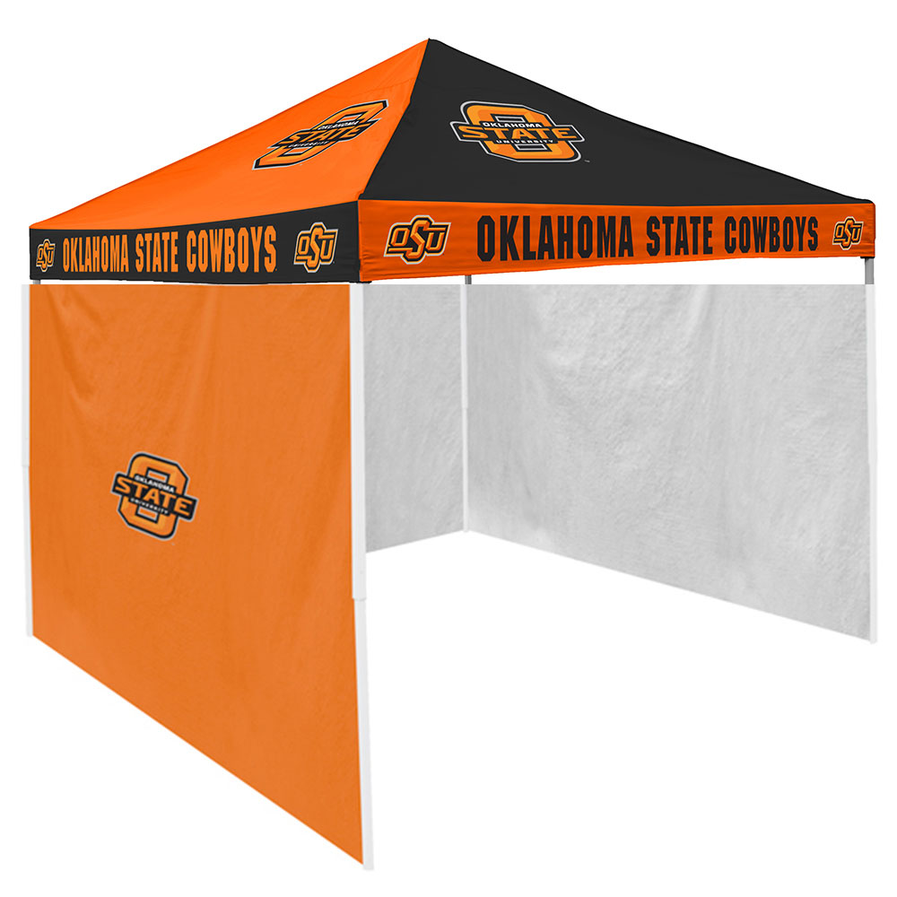 Oklahoma State Cowboys NCAA 9' x 9' Checkerboard Color Pop-Up Tailgate Canopy Tent With Side Wall
