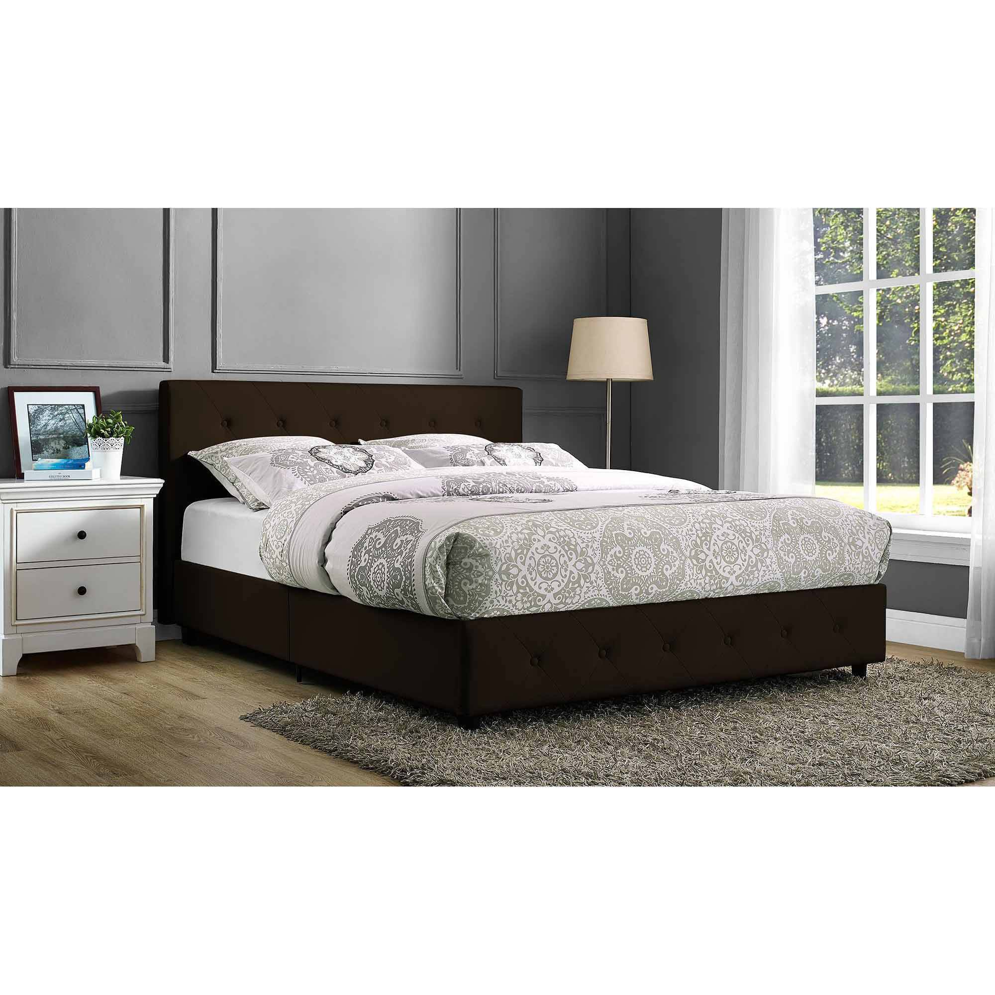 DHP Dakota Faux Leather Upholstered Bed, Multiple Colors and Sizes by Dorel Home Products