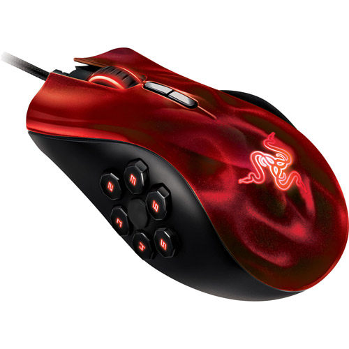 Razer Naga Hex Mouse, Wraith Red Edition