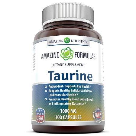 Amazing Formulas Taurine 1000 Mg 100 Capsules
