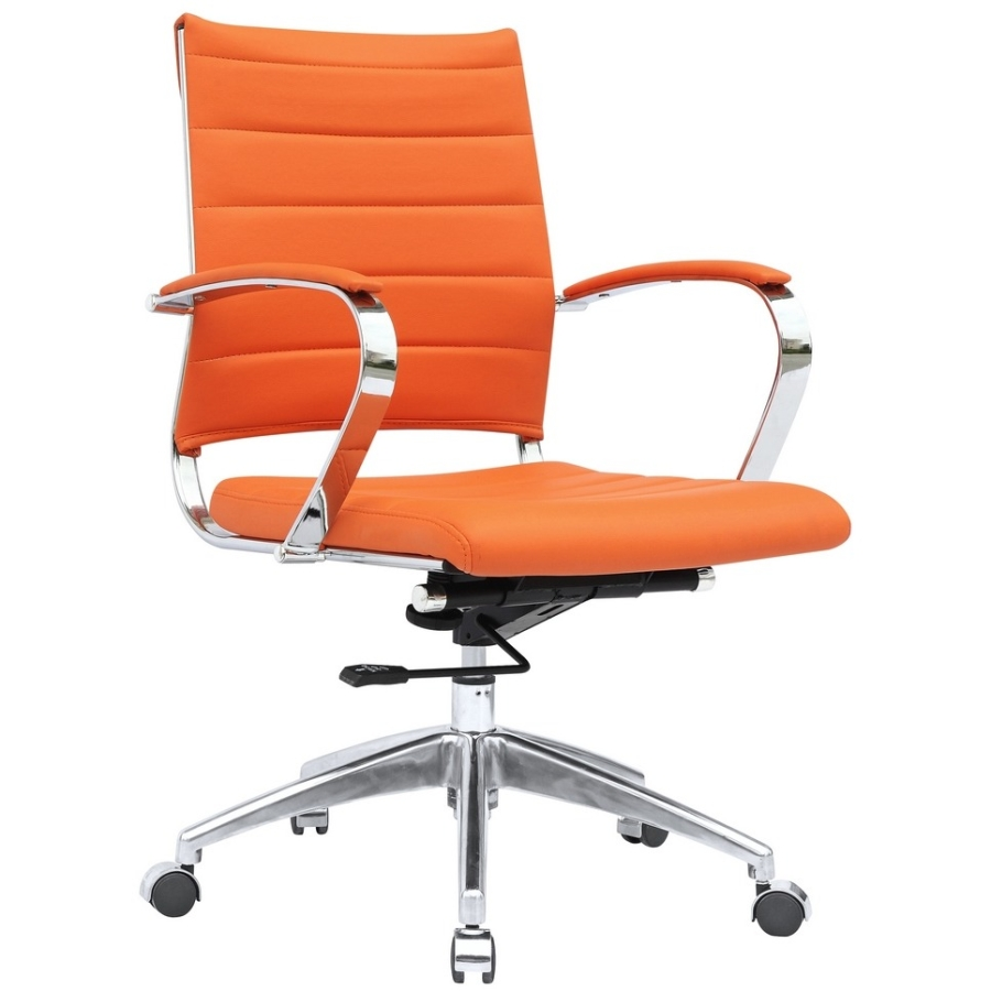 Fine Mod Imports Sopada Conference Office Chair Mid Back, Orange
