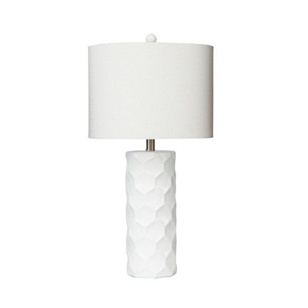 Silverwood Furniture Reimagined 27 In Polygon Inlay White Table Lamp With Shade New Open Box Walmart Com Walmart Com