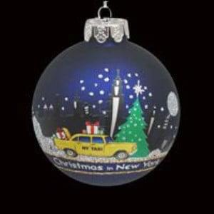 New York Yankees Christmas Ornaments - Glass