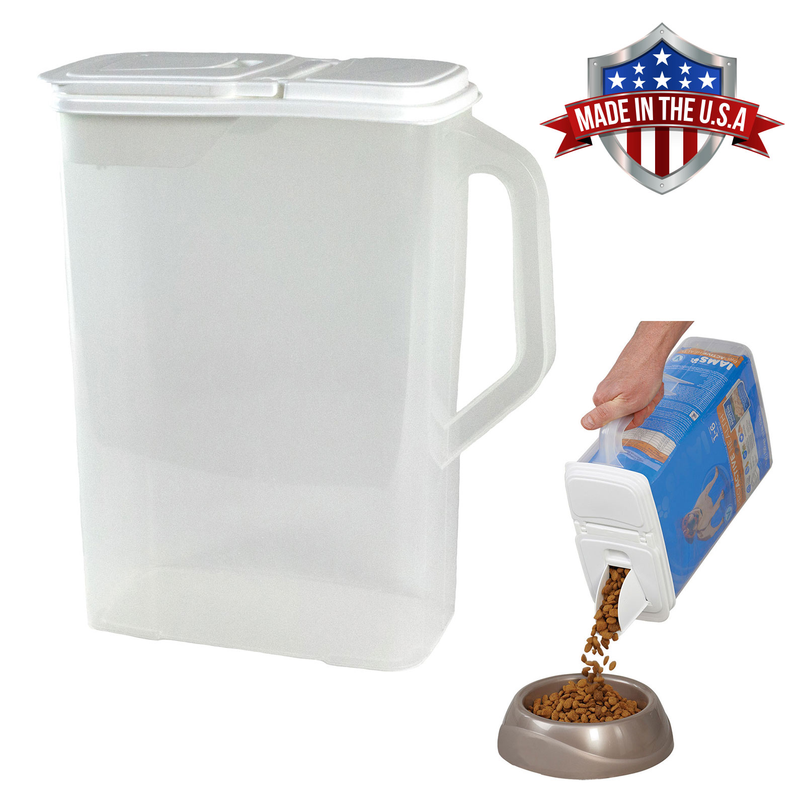 Food Storage Container Large 8 Quart Pour n' Store Keeper and Dispenser with Handle
