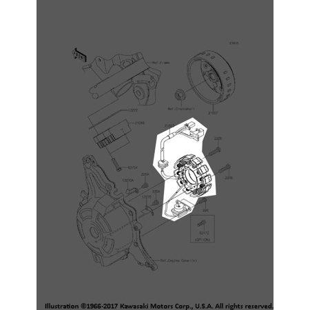 Kawasaki 2017 17 Z 125 Pro Krt Edition Stator Assembly 21003 0170