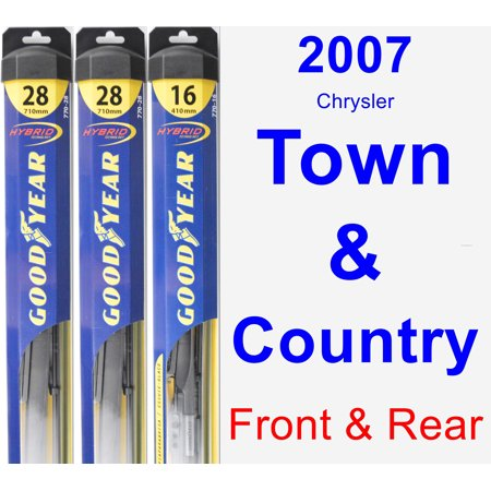 2007 Chrysler Town & Country Wiper Blade Set/Kit (Front & Rear) (3 Blades) -