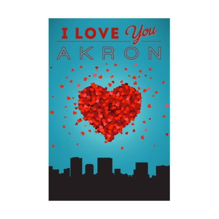 I Love You Akron, Ohio Print Wall Art By Lantern Press](Halloween Stores In Akron Ohio)