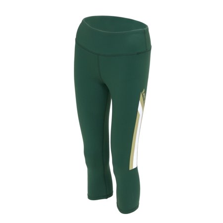 Baylor Bears Twin Vision Activewear Womens Yoga Capri Pant  Green