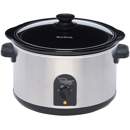 WestBend Crockery Slow Cooker - 6Qt. Round, Stainless Steel