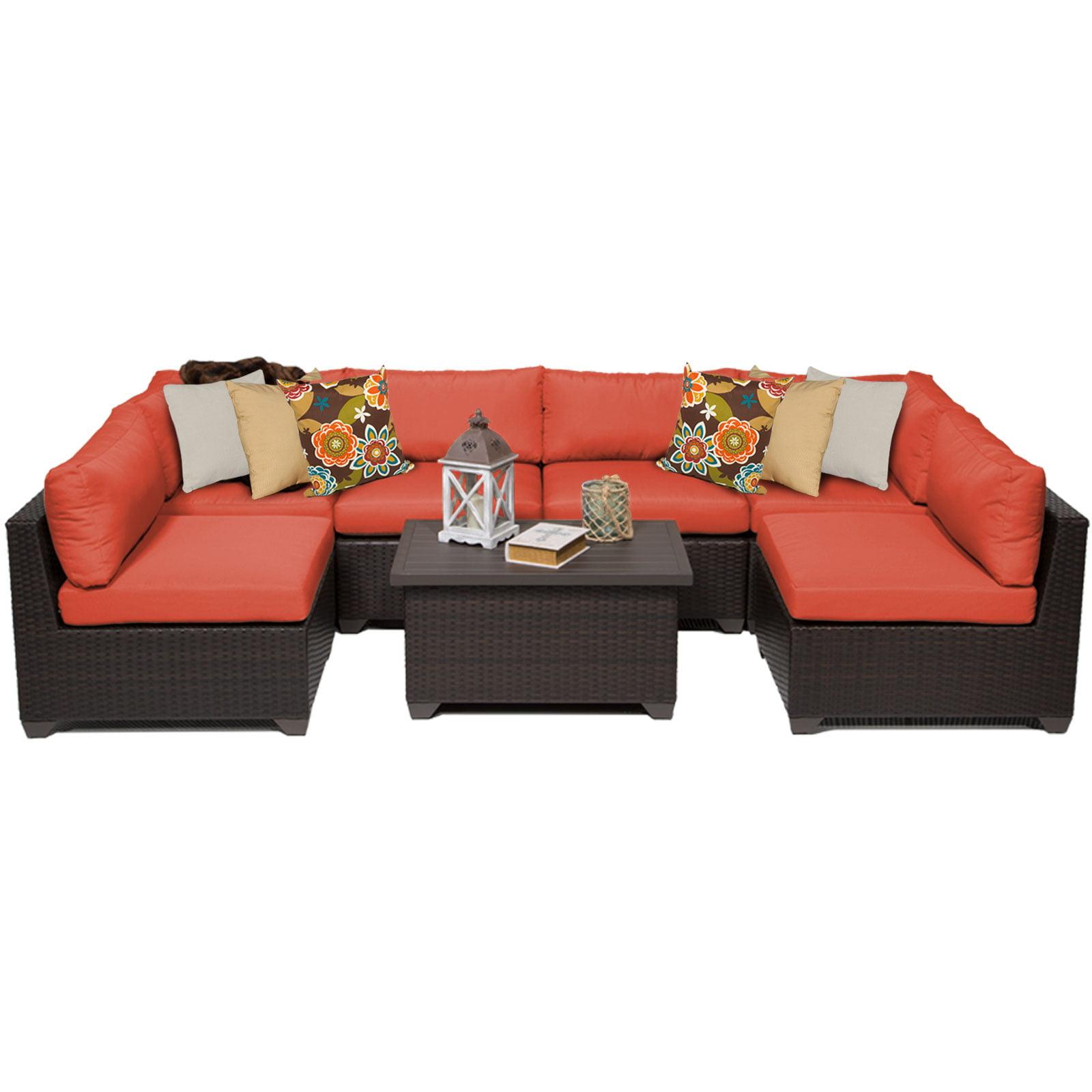 Premier 7 Piece Outdoor Wicker Patio Furniture Set 07a