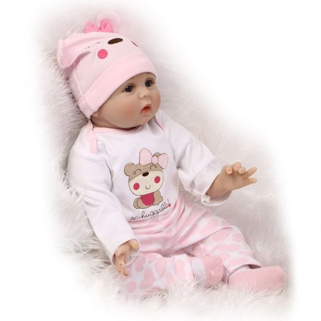 Cute Lovely Girls Realistic Silicone Reborn Newborn Baby Doll Play House Toy - image 6 de 10