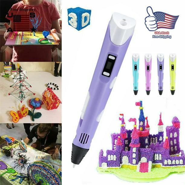 3D Doodler Drawing Printing Pen Art Printer Modeling ABS Filament Kids Toy Gift