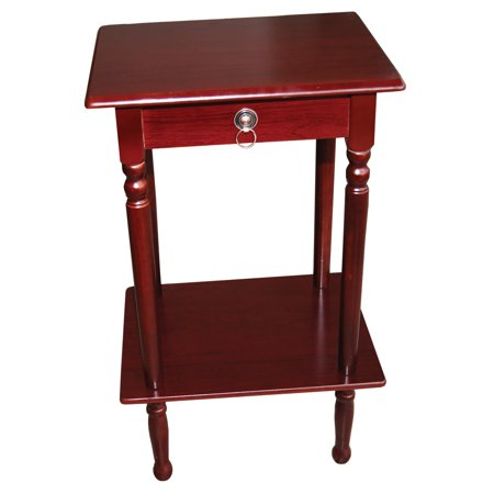 Home Source Mahogany Square Accent Table