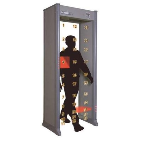 GARRETT METAL DETECTORS 1168411 Walk Through Metal Detector, 33 Zone by