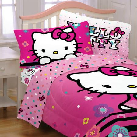 Hello Kitty Kids 4Pc Sheet Set, Floral Ombre, 1 Set Each