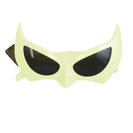 Batman Sunglasses White Batgirl Catwoman Bat Cat Style Superhero Costume - Cavewoman Accessories