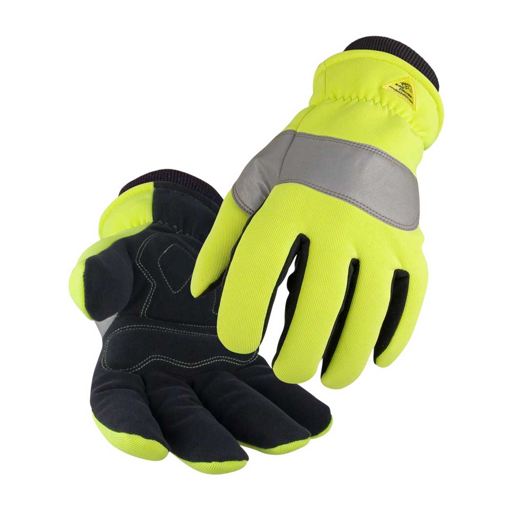 Black Stallion 15HV Hi-Vis Spandex Syn. Leather Insulated Gloves Small to 2XL by Revco