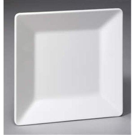 (Gessner Products DW105S1PBK 10.5 in. Square Melamine Plate - Black- Case of 12)