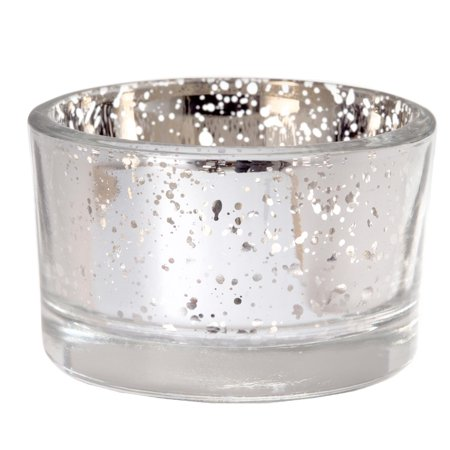 David Tutera Silver Mercury Glass Tea Light Holder: 2 in, 6pk ()