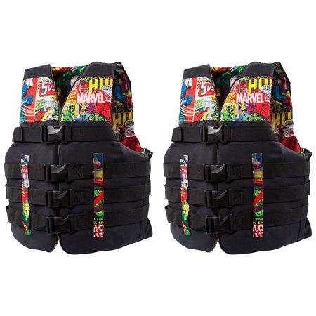 Body Glove Marvel Method Nylon Adult Life Jacket Vest, XXL/XXXL (2 - Dupont Cordura Nylon