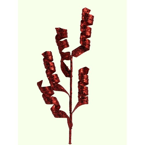 The Holiday Aisle Glitter Spiral Spray Branch (Set of 3)
