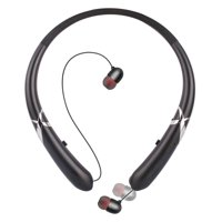 Bluetooth 5.0 Headphones, Retractable Earphones Neckband Sport Wireless Earbuds Stereo  Hi-Fi Sound Waterproof Sweatproof Noise Cancelling Headsets with Mic Fit for iPhone Samsung Huawei iPad