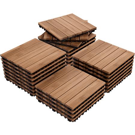 12 x 12'' (27 PCS) Patio Pavers Interlocking Wood Tiles Wood Flooring Tiles Indoor & Outdoor For Patio Garden Deck Poolside ()
