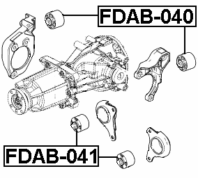 Febest Fdab 041 Arm Bushing Rear Differential Mount Ford Edge 2007