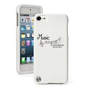 Apple iPod Touch 5 5th Generation Rubber Hard Case Cover Music Is My Life (White)