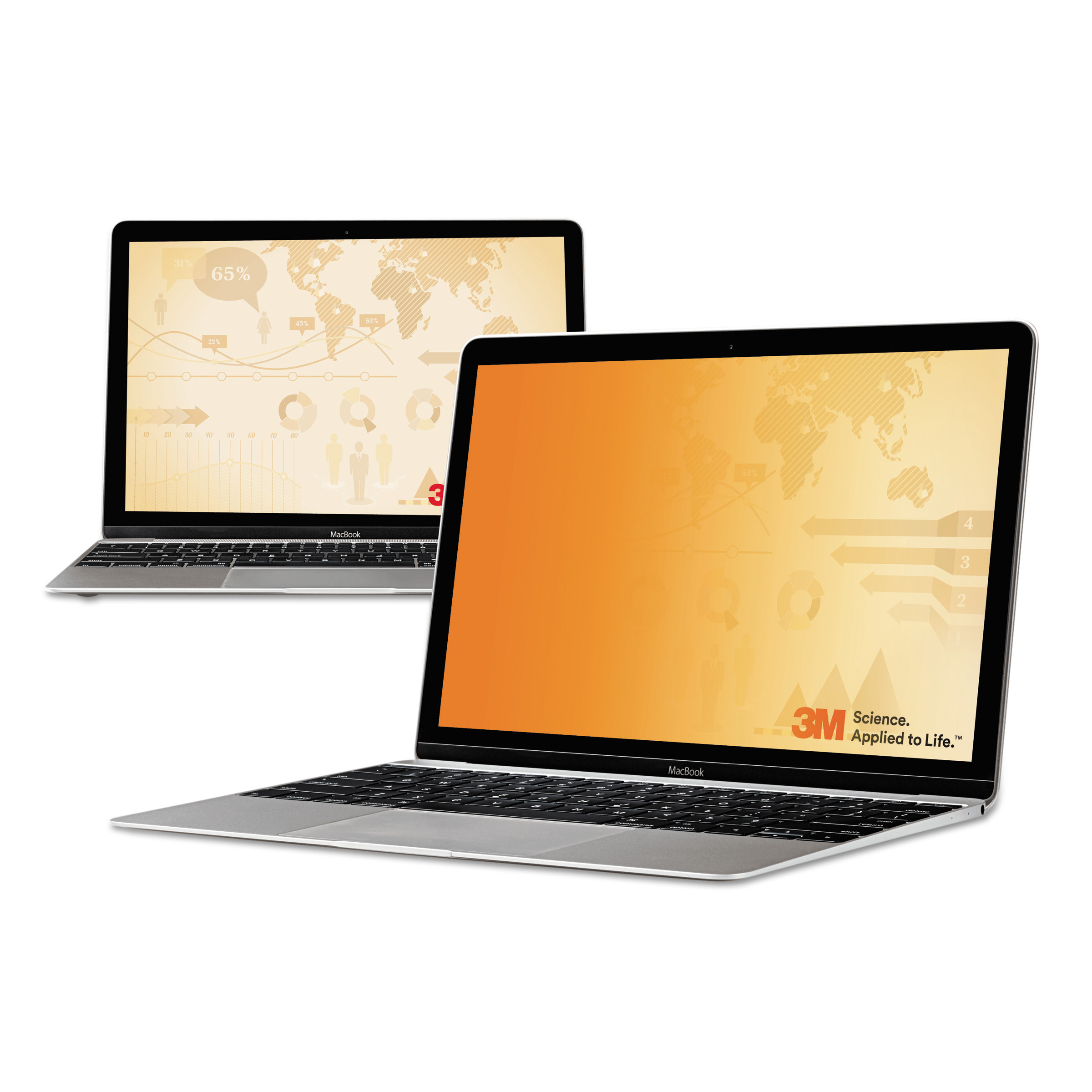 "3M Frameless Gold Notebook Privacy Filter for 13.3"" Widescreen, 16:10 Aspect Ratio"