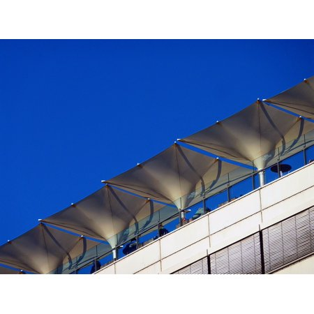 LAMINATED POSTER Outside Catering Blue White Roof Terrace Screens Poster Print 24 x 36 ()