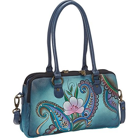 - Women's ANNA by Anuschka Large Multi Compartment Satchel 8038  14