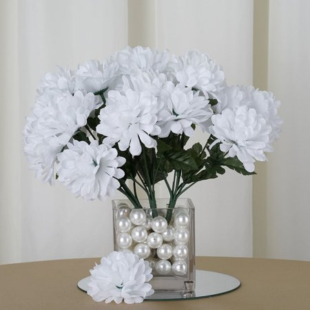 Efavormart 84 Artificial Chrysanthemum Mums Balls for DIY Wedding Bouquets Centerpieces Arrangement Party Home Decoration Wholesale](Tree Wedding Centerpieces)