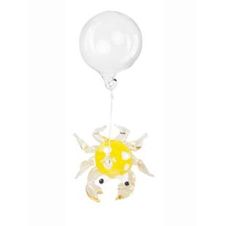 - Yellow Floating Glass Crab Fish Tank Charm by Ganz