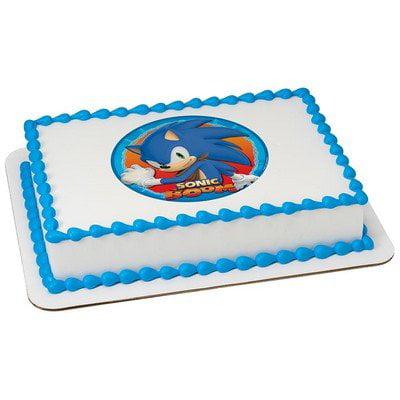 Swell 1 4 Sheet Sonic The Hedgehog Birthday Edible Cake Cupcake Personalised Birthday Cards Xaembasilily Jamesorg