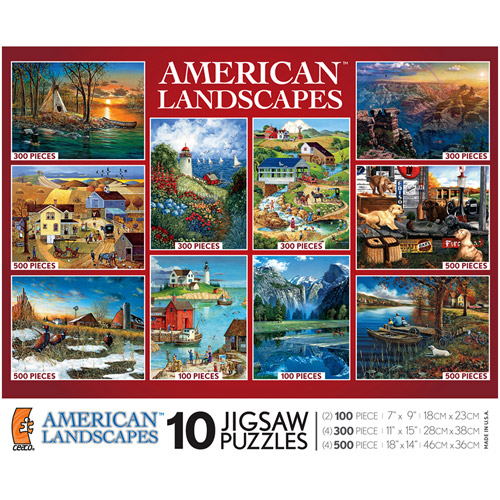 Ceaco - American Landscapes Puzzle 10-Pack