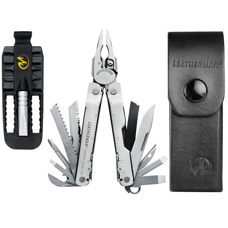 Leatherman Super Tool-300 Multitool With Sheath + Removable Bit Driver