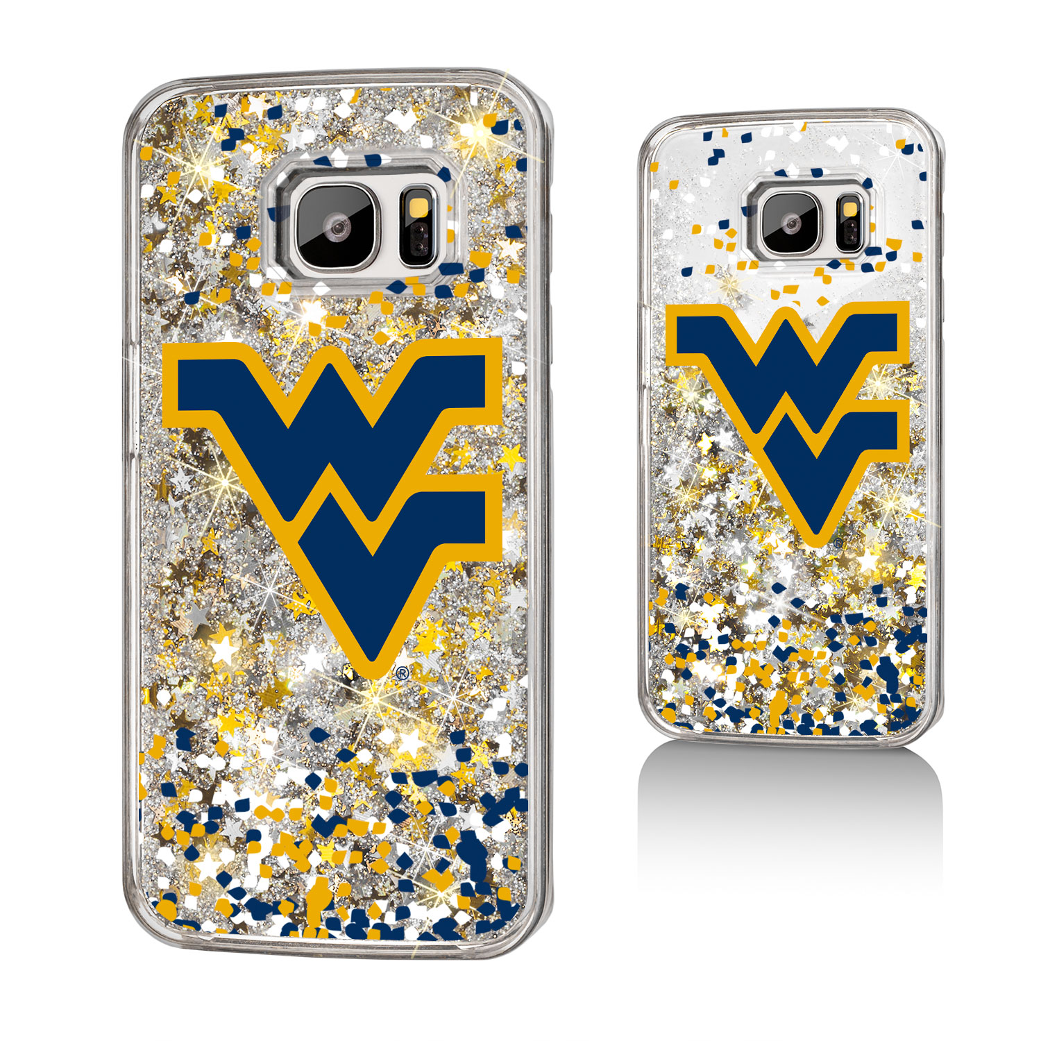 WVU West Virginia Mountaineers Confetti Glitter Case for Galaxy S7