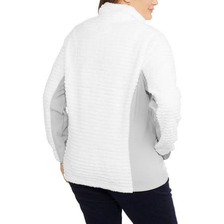 Faded Glory Women's Plus Plush Sport Fleece Jacket