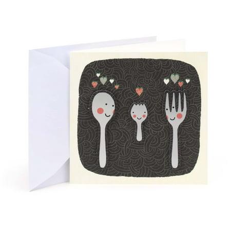 Hallmark Studio Ink, Spork, Baby Greeting Card