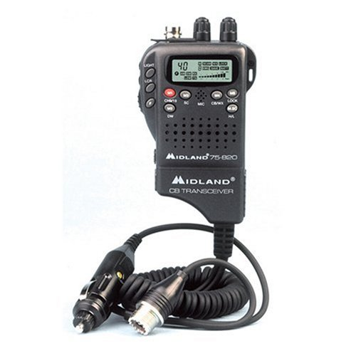 Midland 75822 Mini 40-channel Cb Radio With Weather/all-hazard Monitor & Mobile Adapter (75-822)