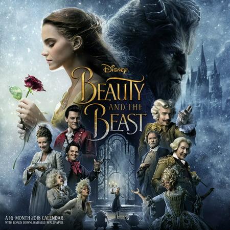 2018 Day Dream Beauty and The Beast Wall Calendar