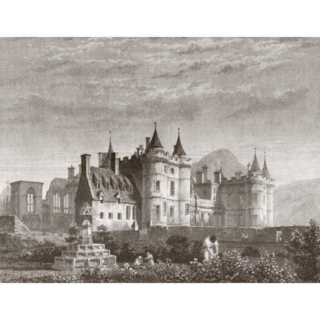 The Palace Of Holyroodhouse Popularly Known As Holyrood Palace Edinburgh Scotland Official Residence Of The Monarch In Scotland The Palace Stands At The Bottom Of The Royal Mile Canvas Art - Ken